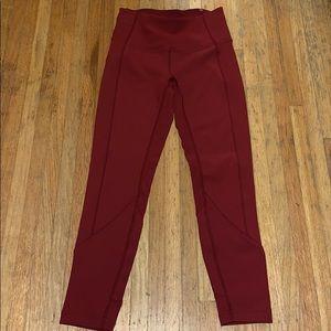 Red 7/8 Length Lululemon Tights